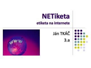 NETiketa etiketa na internete
