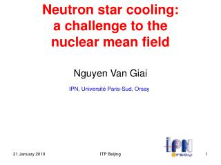 Neutron star cooling:  a challenge to the  nuclear mean field