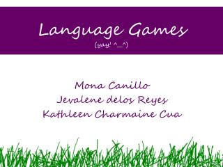 Language Games (yay! ^__^)