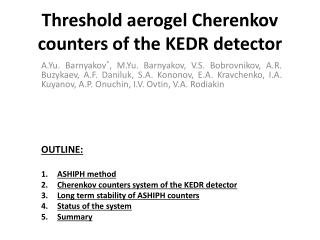 Threshold aerogel Cherenkov counters of the KEDR detector