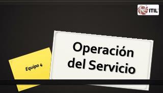 Operaci�n del Servicio