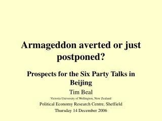 Armageddon averted or just postponed?