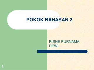 POKOK BAHASAN 2