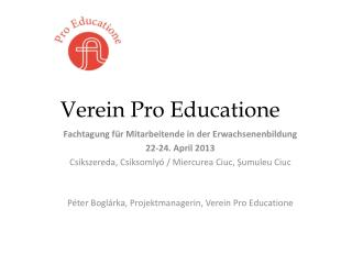 Verein Pro Educatione
