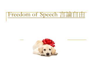 Freedom of Speech  言論自由