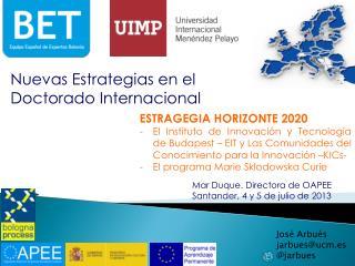 Nuevas Estrategias en el Doctorado Internacional
