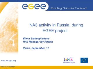 NA3 activity in Russia  during EGEE project