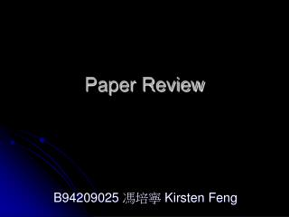 Paper Review