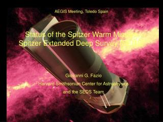 Status of the Spitzer Warm Mission Spitzer Extended Deep Survey (SEDS)