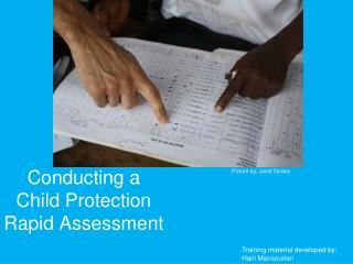 Conducting a Child Protection Rapid Assessment