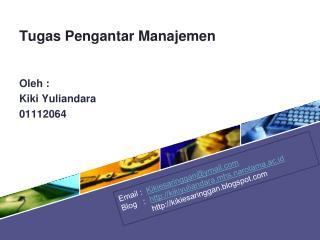Tugas Pengantar Manajemen