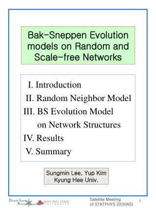 Bak-Sneppen Evolution models on Random and Scale-free Networks