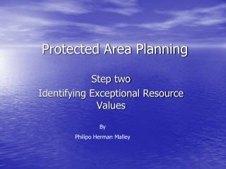 Protected Area Planning