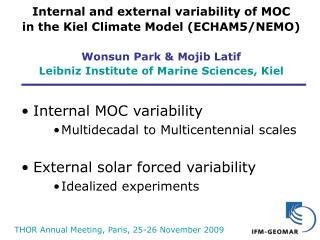 THOR Annual Meeting, Paris, 25-26 November 2009