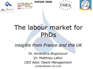 The labour market for PhDs  insights from France and the UK