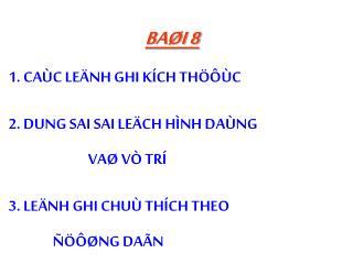 BAØI 8