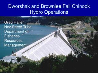 Dworshak and Brownlee Fall Chinook Hydro Operations