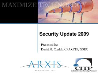 Security Update 2009