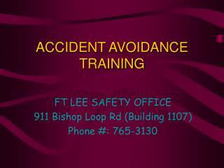 accident avoidance training