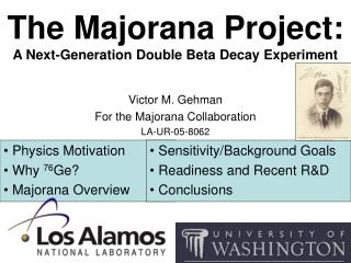 The Majorana Project: A Next-Generation Double Beta Decay Experiment