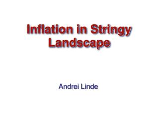 Inflation in Stringy Landscape