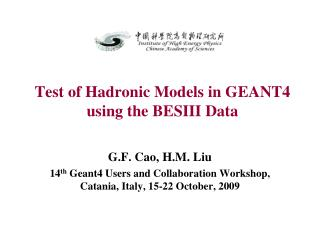 Test of Hadronic Models in GEANT4 using the BESIII Data