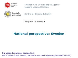 National perspective: Sweden