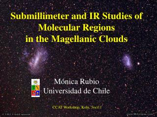 Submillimeter and IR Studies of Molecular Regions in the Magellanic Clouds Mónica Rubio
