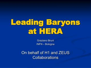 Leading Baryons at HERA