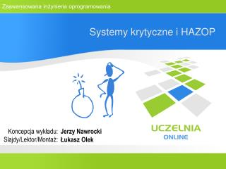 Systemy krytyczne i HAZOP