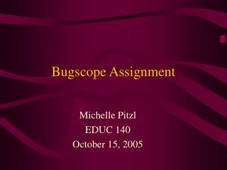 Bugscope Assignment