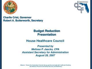 Budget Reduction  Presentation