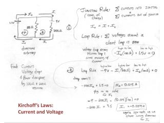 Kirchoff's  Laws: Current and Voltage