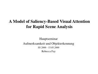 A Model of Saliency-Based Visual Attention for Rapid Scene Analysis