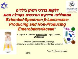 N Dayan, H Dabbah,  I Weissman , I Aga, L Even,  D Glikman Western Galilee Hospital, Nahariya