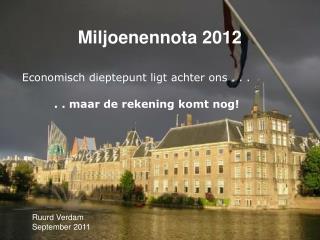 Miljoenennota 2012