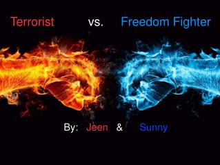 Terrorist           vs.      Freedom Fighter