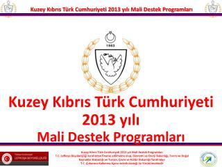 Kuzey Kıbrıs Türk Cumhuriyeti 2013 yılı Mali Destek Programları