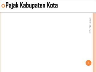 Pajak Kabupaten  Kota