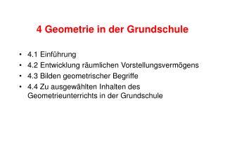 4 Geometrie in der Grundschule