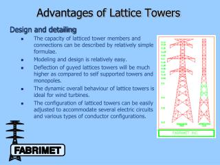Advantages of Lattice Towers