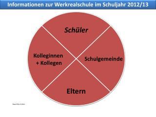 Informationen zur Werkrealschule im Schuljahr 2012/13