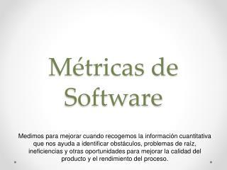 M�tricas de Software