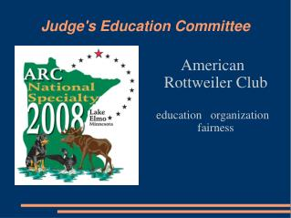 Judge's Education Committee