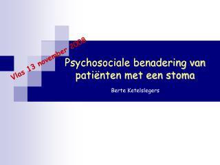 Psychosociale benadering van patiënten met een stoma