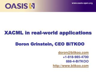XACML in real-world applications