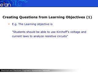 Creating Questions from Learning Objectives 1
