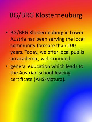 BG/BRG Klosterneuburg