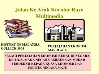Jalan Ke Arah Koridor Raya Multimedia