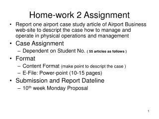 Home-work 2 Assignment